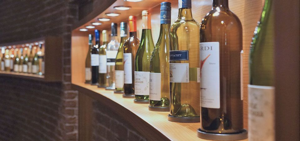various wine bottles from competitors