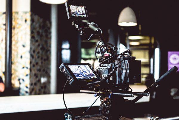 video camera at urban roots brewery