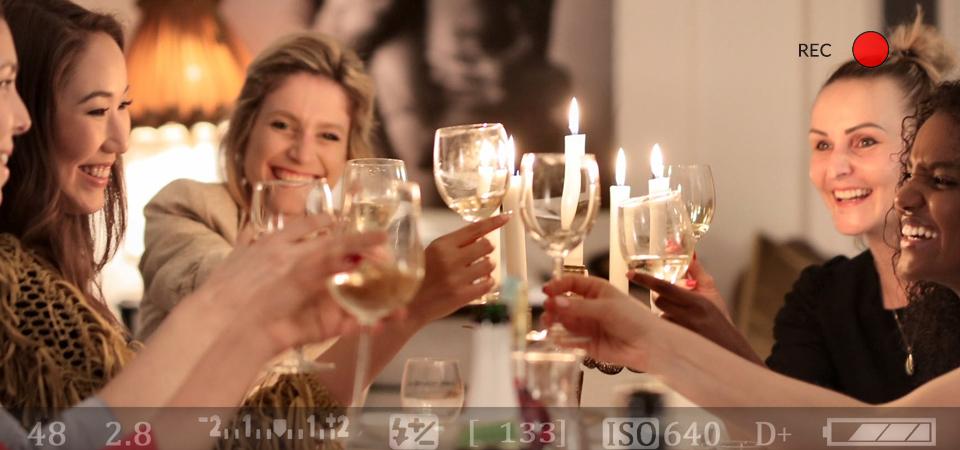 friends tasting wine in tasting room