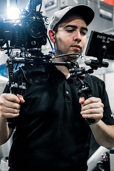 video camera filming beer