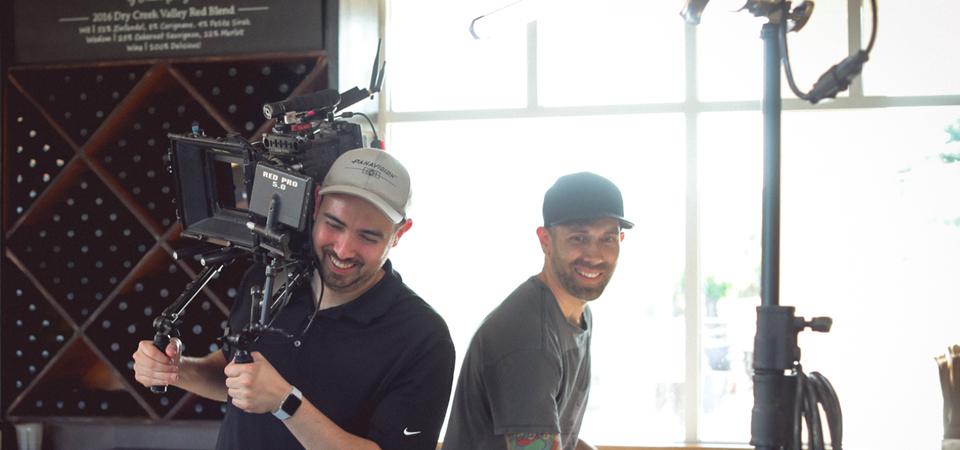 pour film crew on Sacramento video production