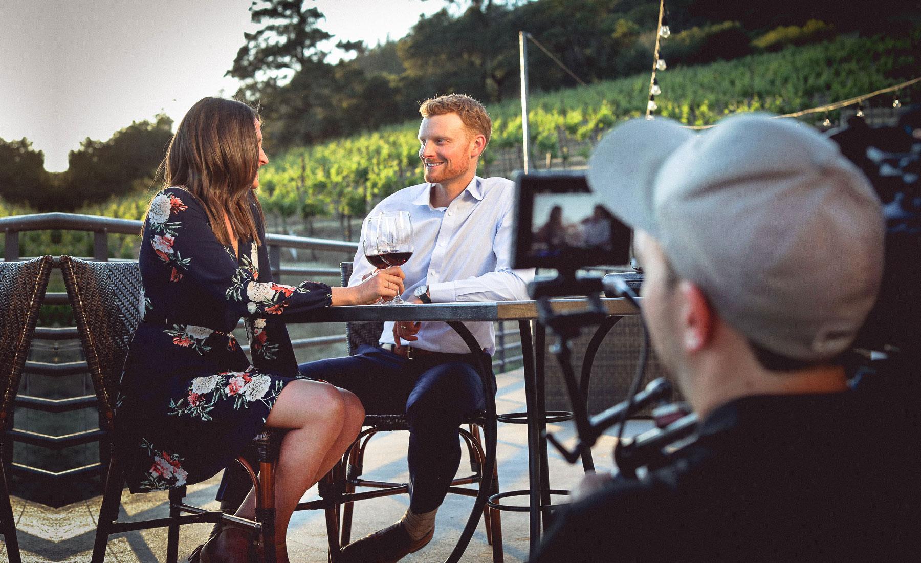 wine tasting video still